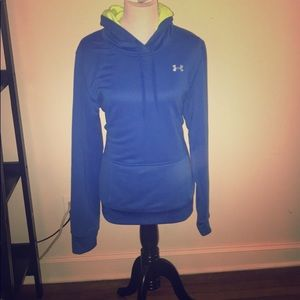 Brand new Under Armour semi-fitted blue hoodie